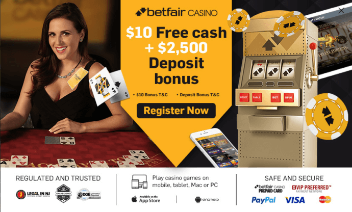 Betfair casino NJ bonus