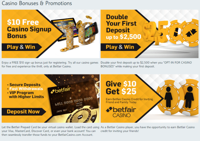 betfair casino promo code offers and promos