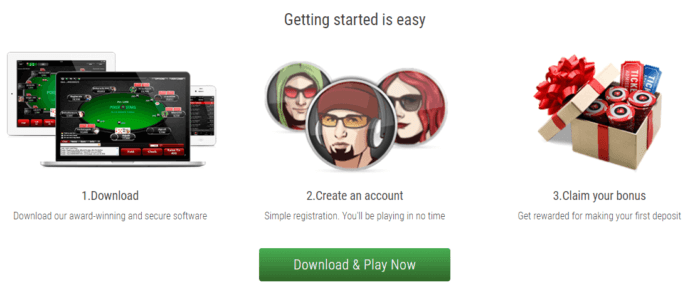 Signup at PokerStars online casino