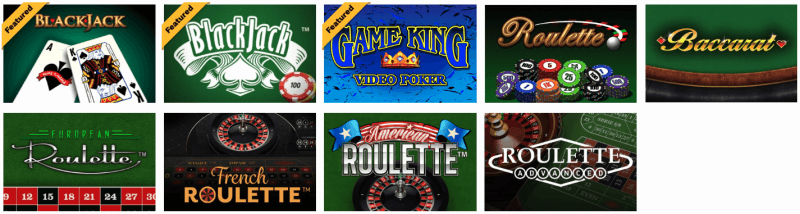 Hollywood Online Casino Games